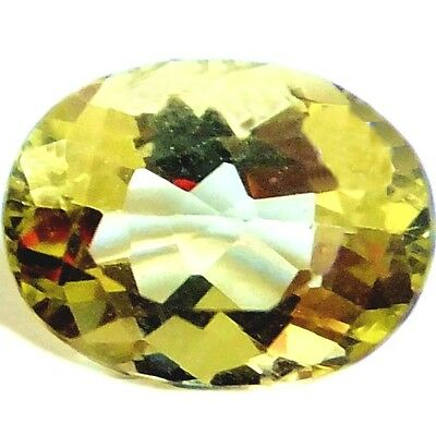 NATURAL UNMATCHED HELIODOR YELLOW BERYL LOOSE GEMSTONE (9 x 6.9 mm) OVAL SHAPE