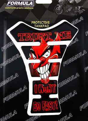 Red Devil Formula Motorcycle Tank Pad Sticker Protector