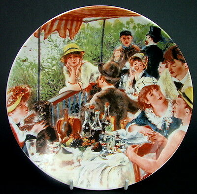 Crown Staffordshire Wall Plate Renoir 20cm Luncheon at the Boating Party in VGC