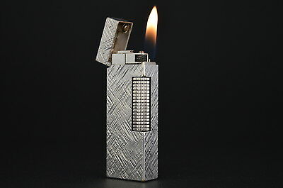 Dunhill Rollagas Lighter Swiss Switzerland Vintage Silver #98