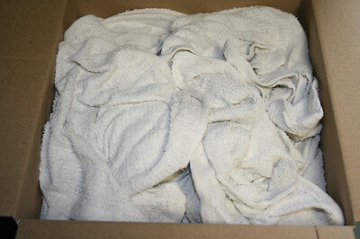 2.5 Lb Assorted White Bar Towels 2.5 Lbs Box Wipers Shop Rags Cleaning Cloths