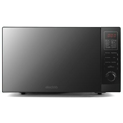 ElectriQ 25L 900W Freestanding Microwave with Digital Display in Bl EIQMW925SOLO