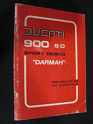 "Owners Manual Ducati 900 SD Sport Desmo ""Darmah"" July 1977 (JvH)"