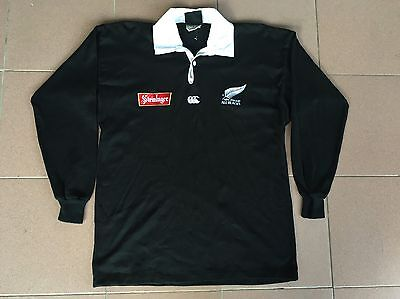 Vtg NOS New Zealand All Black Steinlager Canterburry Rugby Jersey Shirt T