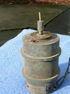 Henschel Synchronous Motor, brass,  style 15-021 type M - dated July 24, 1948
