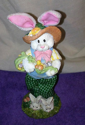 Collectible Easter Rabbit Figure So Adorable Look !!