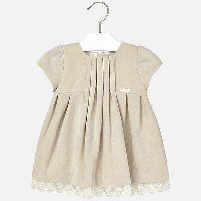 Mayoral Baby Girls Dress in two colours Beige / Pink sizes 24 months code 2932