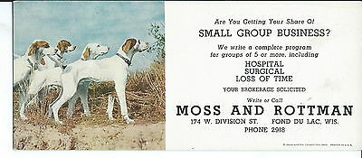 J-218 -   Moss and Rottman, Fond Du Lac, WI Advertising Ink Blotter 1920's-50's