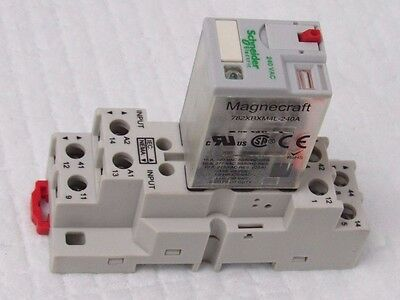 Schneider Electric/magnecraft 782Xbxm4L-240A, 240Vac, 8Pin Plug-In Relay+Base