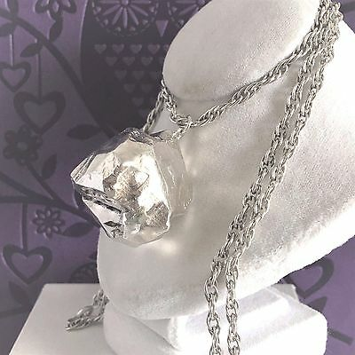 Vintage STERLING SILVER Nugget Necklace Unusual LARGE CHUNKY HM1975 54.4g