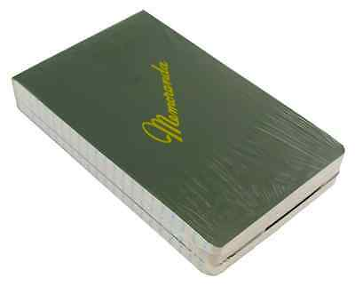 "Green Military Memorandum Book / Military Memo Book, 3-3/8"" x 5-1/2"", Dark Green"