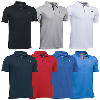 Under Armour Junior Performance Polo Shirt - New Ua Boys Kids Golf T-Shirt 2017