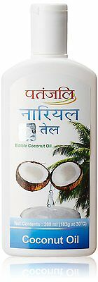 Patanjali Nariyal Tel Coconut Oil 200 ml For Healthy & Strong Non Sticky Hair
