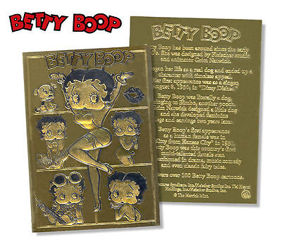 Betty Boop Officially Licensed 23K Gold Card Sculptured Limited Edition