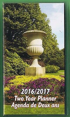 Gardens  2016-2017 - 2 Year Pocket Calendar Planner Agenda Appointment Book