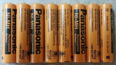 Aaa Panasonic  Rechargeable Batteries  New 8 Pack