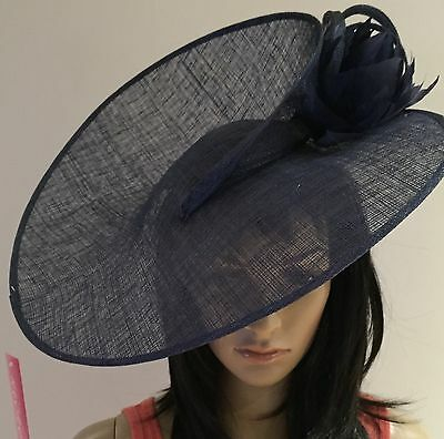 NAVY BLUE WEDDING Disc Hatinator Occasion HAT Mother Of The Bride