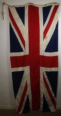 Vintage Large Union Jack Flag With Broad Arrow Mark, Over 9Ft By 4Ft