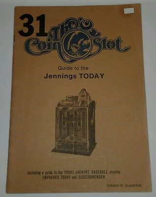 The Coin Slot Jennings Today, Baseball, Electrovender etc SLOT MACHINE MANUAL