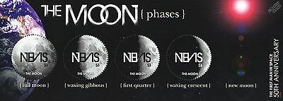 Phases of the Moon / Space Stamp Sheet (Circle Circular Stamps) 2011 Nevis