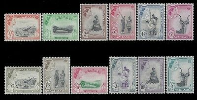 Swaziland Stamps 1956 1/2d-£1 QEII (SG53-64) MLH £100/$125