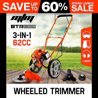NEW MTM Wheeled Brush Cutter/Trimmer - Whipper Snipper Field Push Brushcutter
