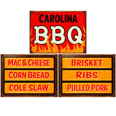 Carolina BBQ Southern Sides Menu Wall Decal Set 12 x 16 Kitchen Decor