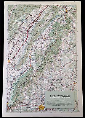 SHENANDOAH NATIONAL PARK Hubbard Relief Map Skyline Appalachian Trail 12.5x18.5""