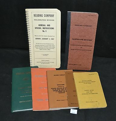 ThriftCHI ~ Reading Railroad Lot - 7 Various Guides & Rule Books 30s - 70s