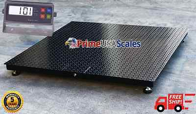 "5 Year Warranty 48"" x 48"" (4' x 4')  Floor Scale Pallet RS-232 10,000 x 1 lb"