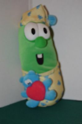 """Veggie Tales Larry the Cucumber Singing Lights Up Night Time Toy 10"""""""