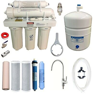 Reverse Osmosis Water Filters System 50GPD RO Membrane Filter + PRV RON-5E-G