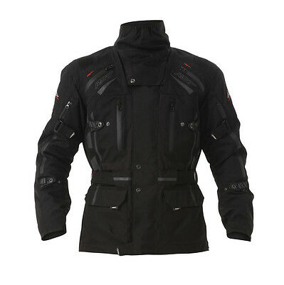 RST Mens Paragon 5 Waterproof Motorcycle Jacket - Black Winter Touring Road Stre