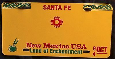 NEW MEXICO USA VEHICLE SAMPLE License Plate Blank
