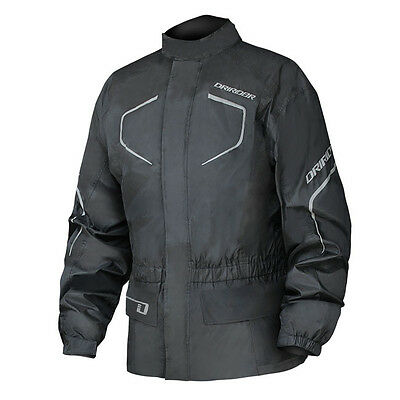 DriRider Thunderwear 2 Waterproof Over Jacket - Black Motorcycle Winter Tour Roa