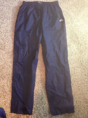 Adidas Blue Track Training Gym Pants Boy's Girl's Youth XL ked