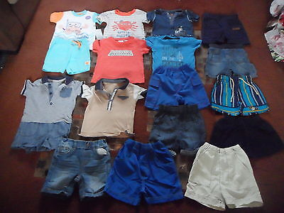 Boys Clothes Summer Bundle 6-9 months  Shorts T-Shirts etc