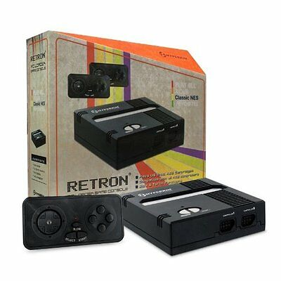 Retron 1 Fc Loader Game Console System - Black Finish Nes Cartridge Player Top