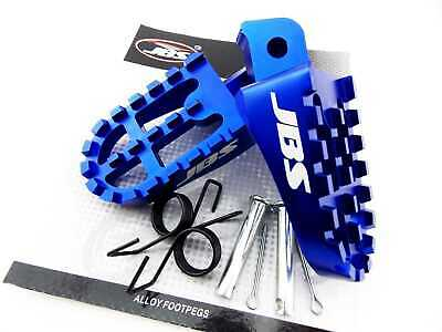 Yamaha Wr200 1992 Jbs Blue Cnc Billet Alloy Foot Peg Set Pair Footpegs Rest