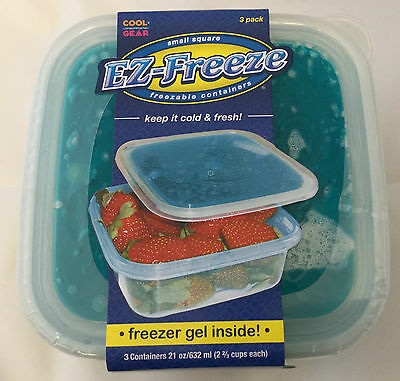 Ez-Freeze Cool Gear Freezable Kitchen Containers With Freezer Gels X 3 Boxes