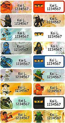 Personalized Waterproof Name label sticker, Ninjago Qty20 Large