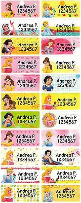 Personalized Waterproof Name label sticker, Princess Qty20 Large
