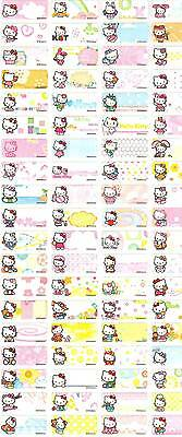 Personalized Waterproof Name label sticker, Hello Kitty Qty64 Party favor Small