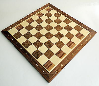 "WALNUT TOURNAMENT NR 5 WOODEN CHESS BOARD 48cm/ 19"" SECONDS REDUCED TO CLEAR"