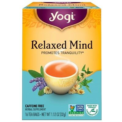 New Yogi Tea Relaxed Mind Organic Caffeine Free Natural Herbal Supplement Care