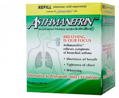 Asthmanefrin Asthma Medication Refill 30 Count Expiration Date March 2018 New