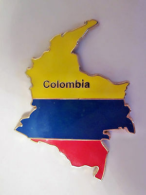 Fridge Metal Map Magnet. Colombia