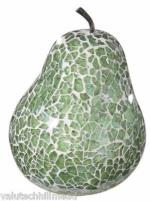 House Additions Mosaic Pear Sculpture,  Duck Egg.