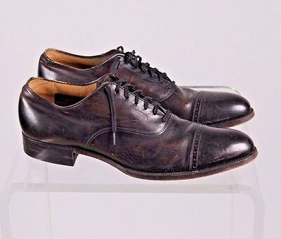 Vintage Stacy Adams 1940's  leather dress shoes  size 10 Humphrey Bogart USA