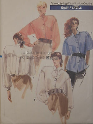 Blouse Shirt Sewing Pattern Vogue # 7045  Size 8-10-12 Uncut